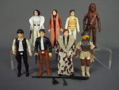 Star Wars - Eight unboxed action figures to include Princess Leia Organa ©GMFGI 1977 Hong Kong,