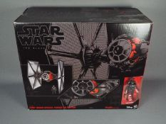 """Star Wars - Hasbro - Black Series 6"""" scale First Order Special Forces Tie Fighter & Pilot from 2018."""