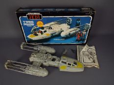 Star Wars - A boxed Kenner Return Of The Jedi Y-Wing Vehicle with instructions, box insert,