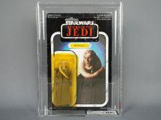 "Star Wars, Palitoy - A graded Palitoy 1983 Star Wars ROTJ 'Bib Fortuna' 3 3/4"" action figure."