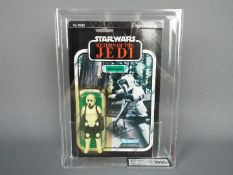 "Star Wars, Kenner - A graded Kenner 1983 Star Wars ROTJ 'Biker Scout' 3 3/4""action figure."