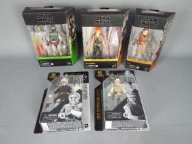 Star Wars, Hasbro - Five Star Wars 'The Black Series' action figures.