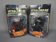 """Star Wars - Hasbro - 2 x 8"""" figures from the Unleashed series dated 2002, Darth Vader # 84897,"""