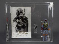 Star Wars - A rare loose vintage and custom graded Star Wars 1979 3 3/4 action figure 'Bobba Fett';