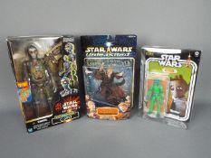 Star Wars, Kenner, hasbro - Three boxed collectable Star Wars figures.