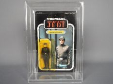"""Star Wars - Kenner - A carded Imperial Commander 3.75"""" figure from Return of The Jedi dated 1983."""