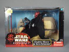 "Star Wars - Hasbro - A boxed 12"" Episode I Darth Maul & Sith Speeder. # 26294."
