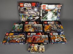 Lego - A collection of boxed 9 x sets including # 7656 General Grievous Starfighter,
