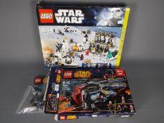Lego - 2 x boxed sets, # 7879 Hoth Echo Base, # 75046 Coruscant Police Gunship,
