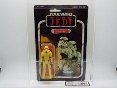 "Star Wars, Kenner - A graded Kenner 1983 Star Wars ROTJ 'Stormtrooper' 3 3/4""action figure."
