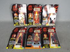 Hasbro - A collection of 6 x unopened carded Star Wars Episode 1 figures with Comm Tech talking
