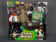 """Star Wars - Hasbro - A boxed Power Of The Jedi 12"""" Luke Skywalker Action Collection 100th Figure"""