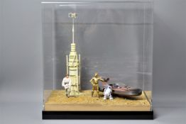 """Star Wars, Hasbro, Kenner - A bespoke 6"""" action figure diorama entitled 'The Unknown Future'."""