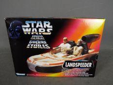 Star Wars, Kenner - A boxed Star Wars Kenner 1995 'Power of the Force' 'Landspeeder'.