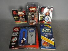 Tiger Electronics - Hope - A collection of Star Wars Episode I related collectibles including Darth