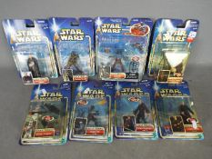 Hasbro - A collection of 8 x unopened carded Attack Of The Clones figures including Clone Trooper,