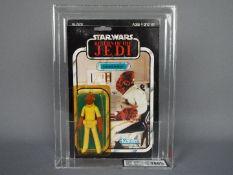 "Star Wars, Kenner - A graded Kenner 1983 Star Wars ROTJ 'Admiral Ackbar' 3 3/4"" action figure."
