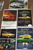 AUTOMOBILIA - RENAULT 15/17 CARS LAMINATED LARGE ADVERTISINGPOSTERS