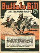 COMICS - VINTAGE BUFFALO BILL AND THE MASKED RIDERS!