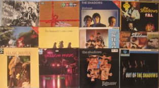 MUSIC - 12 THE SHADOWS/HANK MARVIN VINYL RECORDS LP'S/ALBUMS