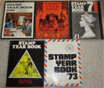 PHILATELY - STAMP YEARBOOKS 1969 - 1973 INCLUSIVE