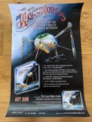 FILM - THE WAR OF THE WORLDS POSTER - SIGNED BY JEFF WAYNE