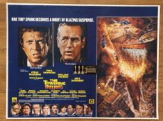 FILM - TOWERING INFERNO 1974 UK QUAD - LINEN BACKED