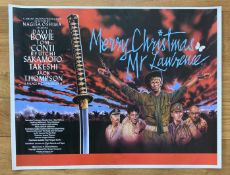 FILM - MERRY CHRISTMAS MR LAWRENCE 1983 UK QUAD