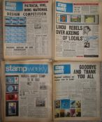 PHILATELY - STAMP WEEKLY (NEWSPAPER) ALMOST A COMPLETE SET