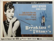 FILM - BREAKFAST AT TIFFANYS UK QUAD POSTER 2001 RE-RELEASE