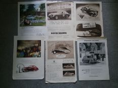 VINTAGE CAR ADVERT POSTERS X 6 ALL 1950'S