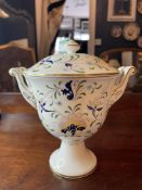 COALPORT CHINA PAGEANT PATTERN URN AND COVER