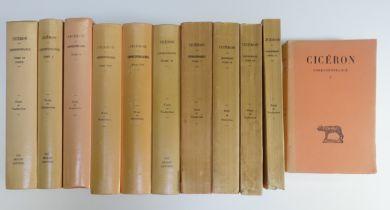 CICERO. Correspondance. Texte établi et traduit p. L.-A. Constans, J. Bayet