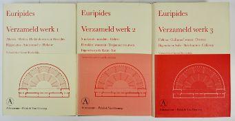 EURIPIDES. Verzameld werk. Vert. door G. Koolschijn. 2001-03. 3 vols. Or. cloth