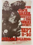 THE QUICKSILVER MESSENGER SERVICE & THE GREAT SOCIETY. Sept. 9-10 Avalon Ballroom, Sutter