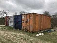 3 no. 20' shipping containers