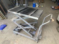 750x500mm platform scissor lift on castors