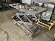 1000x500mm platform scissor lift on castors