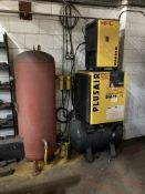 HPC Plus Air SM11 rotary screw air compressor together with HPC model 1015TBH30 chiller and vertical