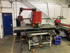 Morgan Rushworth HSP 125 CNC triple head hydraulic punching machine, year 2016, serial no. S155415