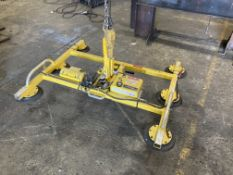 Woods Powr-Grip PPHL69LBC suction plate lifter, 700lbs capacity, serial no. 1076Y