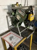 Cevisa CHP12 beveling machine, serial no. 7889, year 2015, together with work stand