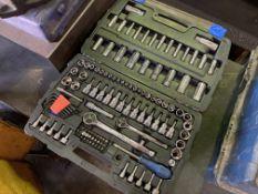 Bahco socket set together with a Mastercraft socket set