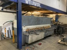 Kingsland KTXS3012 hydraulic guillotine 3m x 12mm capacity, year 2002, serial no. 69592 with SC7