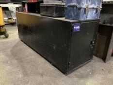 2m steel van vault storage unit with end opening doors