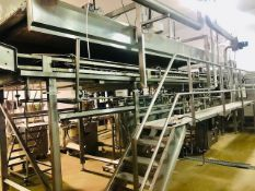 PASTA TECHNOLOGIES GROUP Complete Continuous Pasteurizer line Mod. TPV-70-15 S/N 005071102, up to