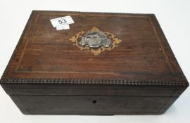 WW2 German Cigar Box with Waffen SS Skull on the top.
