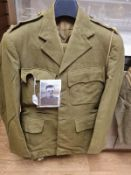 Genuine WW2 Royal Artillery captains uniform with all the missing insignia and button in separate