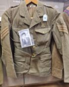 Genuine WW2 A.T.S Sergeants jacket with Lanyard and insignia