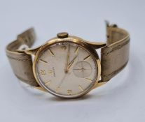 9ct gold Omega 266 movement 14210992 in working condition